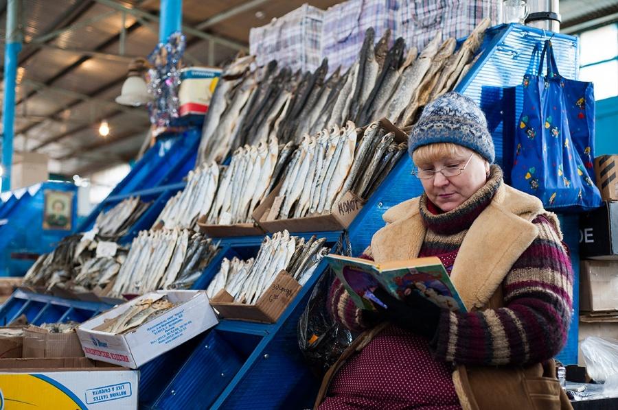 Рыбный рынок Селенские Исады, Астрахань, Астраханская область, Россия, Европа